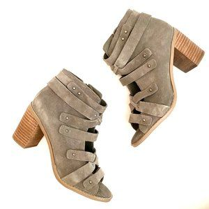 Vince Camuto Gray Suede Strappy Booties 6.5